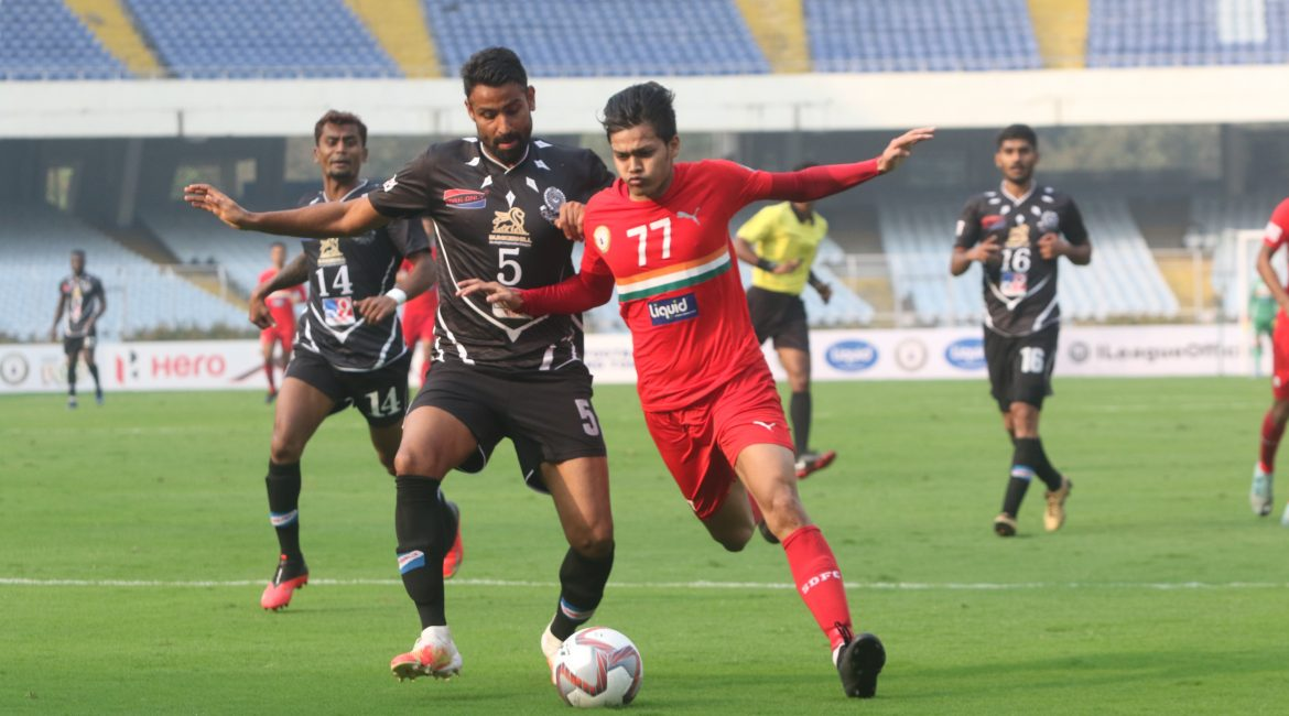 Sudeva vs Mohammedan I-league match action